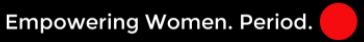Empowering Women. Period. Logo